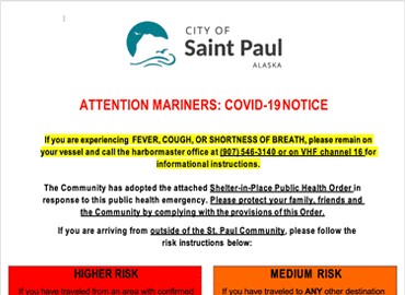 Attention Mariners: COVID-19 Notice
