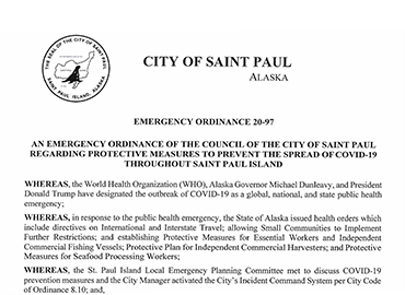 Emergency Ordinance 20-97