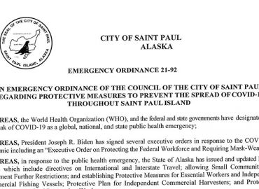 COVID-19 Emergency Ordinance 21-92