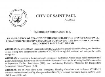 Emergency Ordinance 20-93